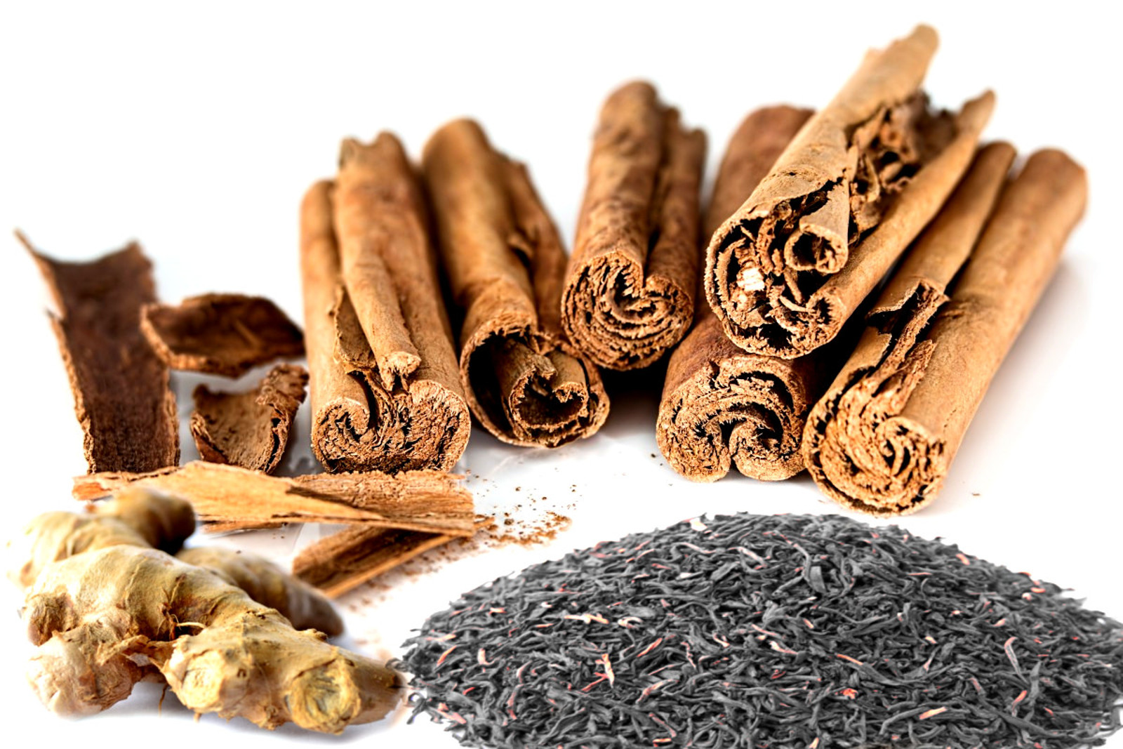 Cinnamon, ginger and black tea